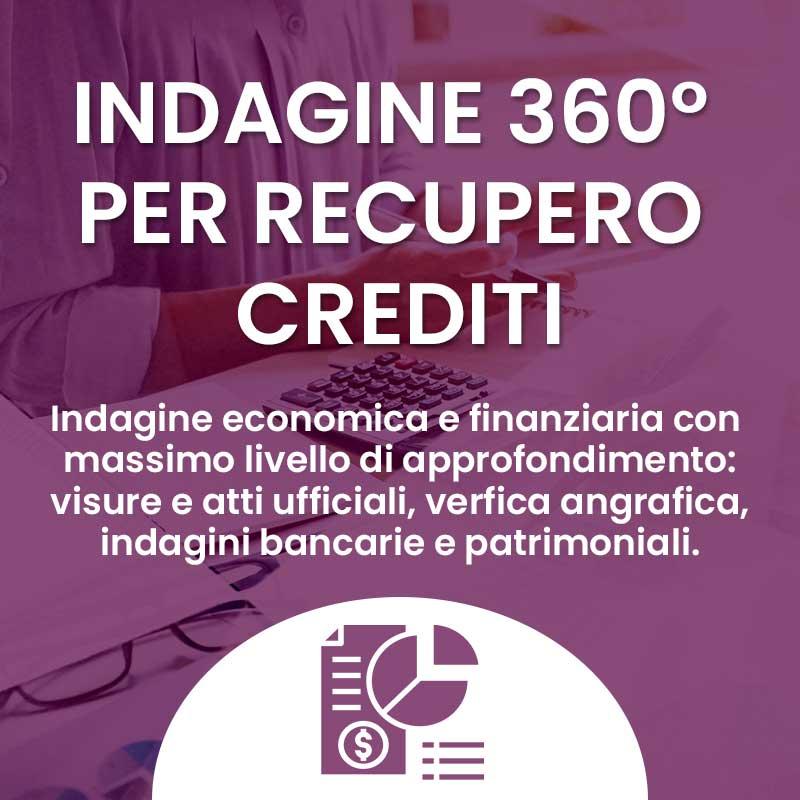 indagini 360 per recupero del credito
